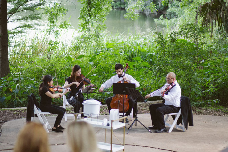 Castle Hill String Quartet in Austin Weddings